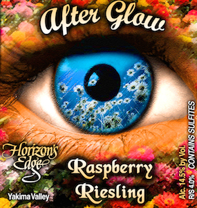 horizons-edge-winery-after-glow-raspberry-riesling-label