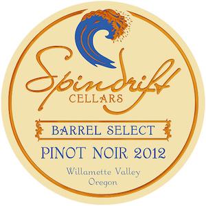 Spindrift Cellars 2012 Barrel Select Pinot Noir label