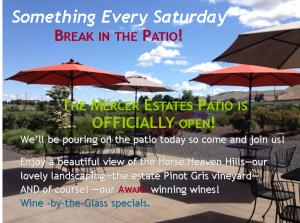 Mercer Estates patio party poster