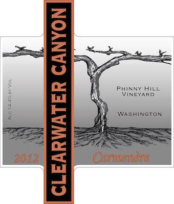 clearwater-canyon-cellars-phinny-hill-vineyard-carmenere-2012-label