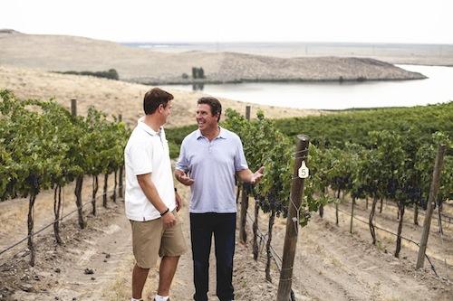 Dan Marino and Damon Huard own Passing Time, a Washington state winery.
