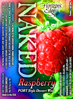 Horizons Edge Winery NV Naked Raspberry Port-style