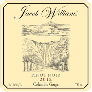 Jacob Williams Winery 2012 Pinot Noir