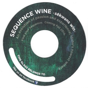 sequence wine coaster
