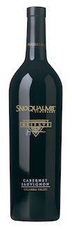 Snoqualmie Vineyards Reserve Cabernet Sauvignon bottle