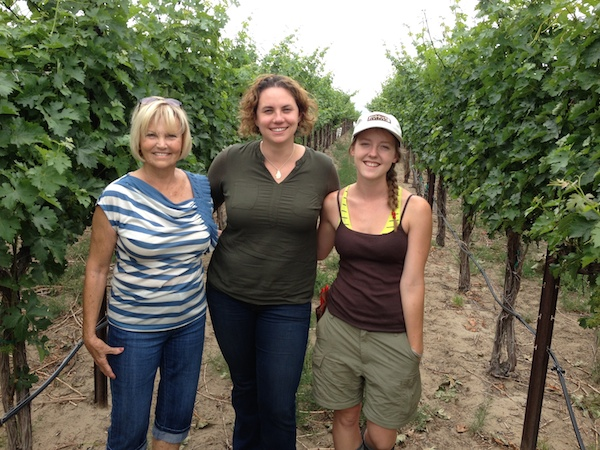 Bev Fraser, left, has entered a five-year lease on Fraser Vineyard with Sequence winemaker Kathryn House. Sierra Laverty, Fraser's granddaughter, will continue to work on the vineyard until she returns to Oregon State University.