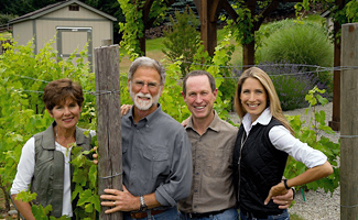 Cathy and Bob Betz, left, are selling Betz Family Winery to Steven and Bridgit Griessel. (Photo courtesy of Betz Family Winery)