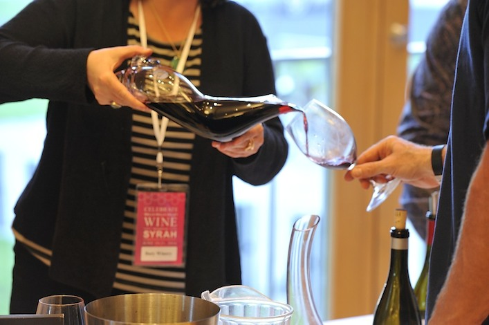 More than 40 wines from throughout the Walla Walla Valley were sampled during Thursday's public pouring at Whitman College during the Celebrate Walla Walla Valley Wine — The World of Syrah on Friday, June 20, 2014.