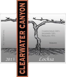 Clearwater Canyon Cellars 2013 Lochsa label