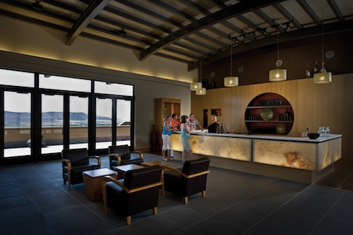 Col Solare's tasting room provides dramatic views.