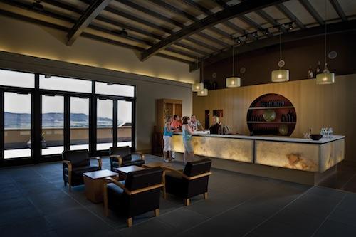 Col Solare's tasting room provides dramatic views.