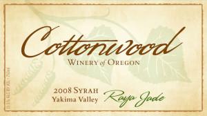 Cottonwood Winery of Oregon 2008 Raya Jade Syrah