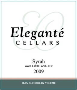 eleganté-cellars-syrah-2009-label