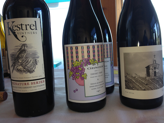 Kestrel Vintners, Chinook Wines and Owen Roe were among the wines sampled during Wine Yakima Valley's growers luncheon on Monday, July 28, 2014 in Richland, Wash.