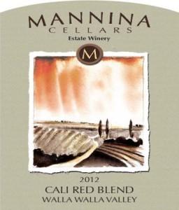 Mannina Cellars 2012 Cali Red Blend label