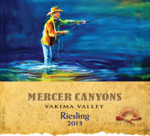 Mercer Canyons 2013 Riesling label