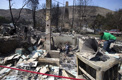 The Washington wildfire in Pateros is unlikely to affect Washington wine grapes.