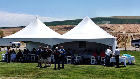 Some of Washington state's top winemakers meet at Quintessence Vineyards on Red Mountain for an alfresco tasting and lunch.