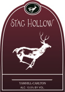 Stag Hollow red wine label