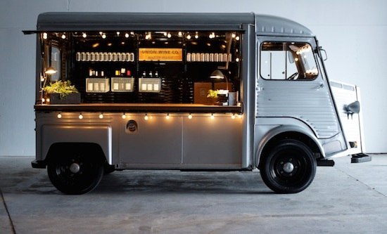 Oregon winemaker Ryan Harms turned a 1972 Citroën H Van into his Union Wine Company mobile tasting truck.