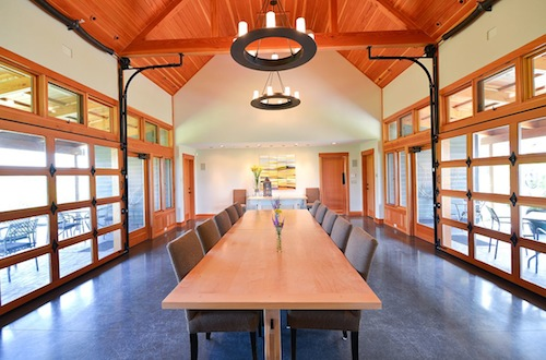 Woodward Canyon Winery's Reserve House is a tasting area and seasonal restaurant.