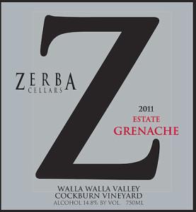 zerba-cellars-estate-grenache-2011-label