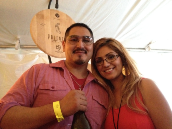 More than 100 winemakers — including Victor Palenica and Paula Ramirez of Palencia Wine Co. in Walla Walla — poured during the Auction of Washington Wines' Picnic and Barrel Auction on Thursday, Aug. 14, 2014 at Chateau Ste. Michelle in Woodinville.