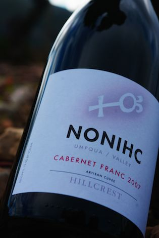 HillCrest Vineyard's 2007 NONIHC Cabernet Franc will be one of three red wines making the trip to Austria with Dyson DeMara.