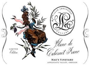 Leah Jorgensen Cellars Blanc de Cabernet Franc label