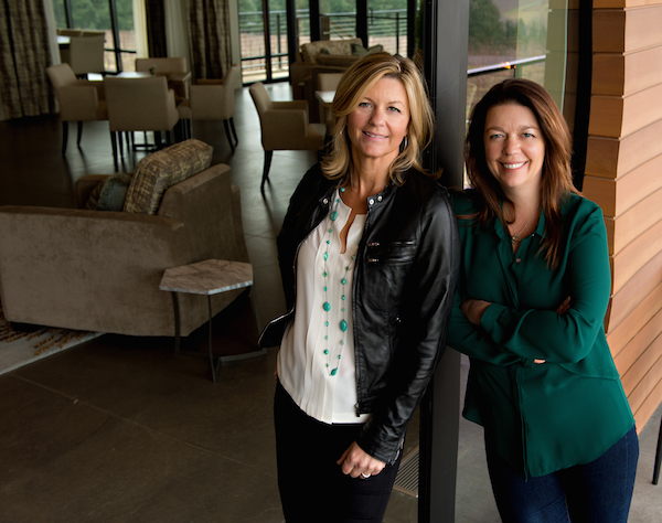 Maria Ponzi, left, recently was named President of Ponzi Vineyards, which she owns and operates with her winemaking sister, Luisa.
