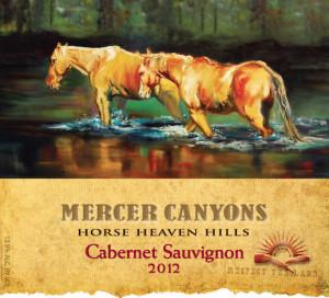 Mercer Canyons 2012 Cabernet Sauvignon label