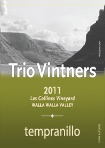 trio-vintners-les-collines-vineyard-tempranillo-2011-label