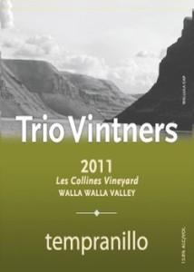 trio-vintners-les-collines-vineyard-tempranillo-2011-label