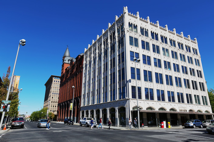 Spokane attorney Tim Nodland will create a jazz club and tasting room for Nodland Cellars in Spokane's Chronicle Building. The historic home of the shuttered Spokane Chronicle newspaper was designed by Kirtland Cutter, whose architecture work includes The Davenport Hotel nearby and the Rainier Club in Seattle.