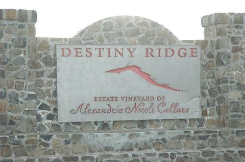 Alexandria Nicole Cellars and Destiny Ridge Vineyard