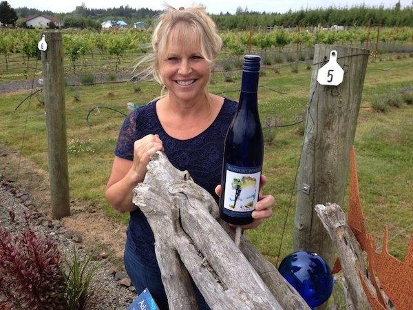 Kim Roberts, co-owner and manager of Westport Winery near Aberdeen, Wash., sometimes can be found working in the plant nursery under the shadow of their 40-foot lighthouse that towers over their tasting room and restaurant. Her winemaking son's annual bottling of Riesling and Gewurztraminer is called Lighthouse.