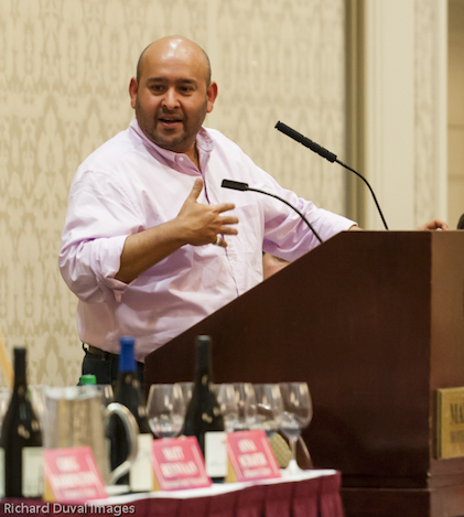 Master sommelier Rajat Parr moderates an international panel of Syrah producers during the 2014 Celebrate Walla Walla Wine festival.