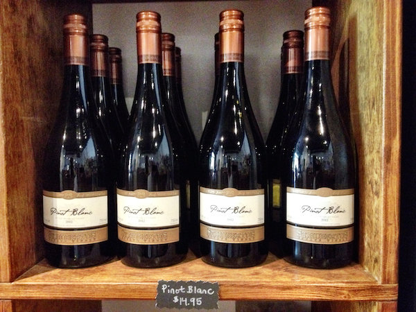 Bottles of St. Hubertus Estate Winery's 2013 Pinot Blanc, a signature grape of British Columbia, will be sold at Whole Foods Market grocers in Washington and Oregon for $19.99.