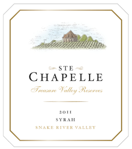 ste-chapelle-treasure-valley-reserves-syrah-2011-label