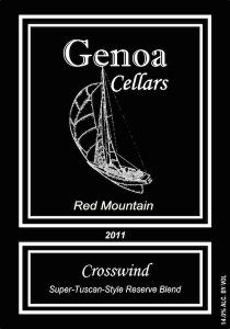 Genoa Cellars 2011 Crosswind label
