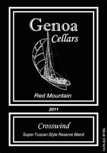 Genoa Cellars 2011 Crosswind label