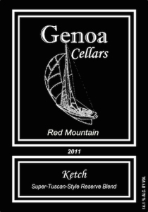 Genoa Cellars 2011 Ketch label