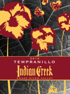 Indian Creek Winery 2012 Tempranillo label