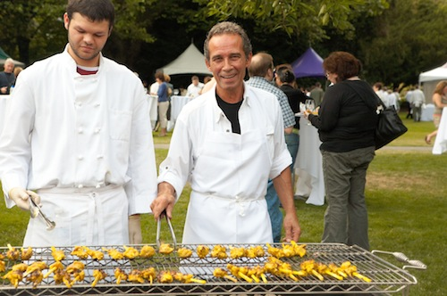John Sarich works the grill at the 2008 Riesling Rendezvous at Chateau Ste. Michelle. (Photo courtesy of Chateau Ste. Michelle)