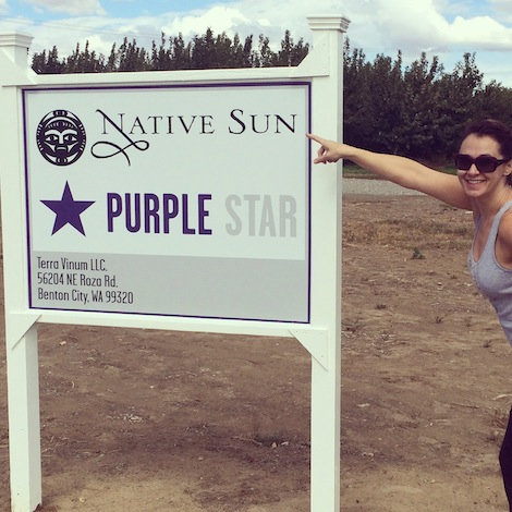 Co-owner Amy Johnson proudly points out that Native Sun and Purple Star Wines are open for business at their new Benton City, Wash., production facility.