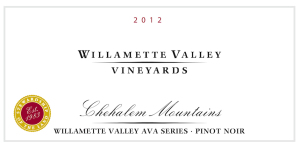 Willamette Valley Vineyards 2012 Chehalem Mountains AVA Series Pinot Noir
