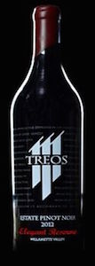 Treos-Elegant Reserve Estate Pinot Noir-Willamette Valley-2012-Bottle
