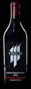 Treos-Elegant Reserve Estate Pinot Noir-Willamette Valley-2012-Bottle