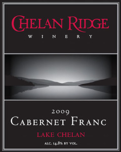 Chelan Ridge Winery 2009 Cabernet Franc label