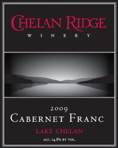 Chelan Ridge Winery 2009 Cabernet Franc label